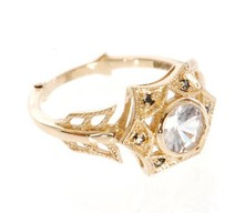 Zoe and Morgan Fine Jewellery Diamond & yellow gold cupid ring