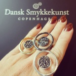 Dansk Smykkekunst hematite rings